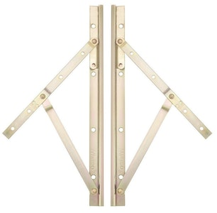 Whitco 300mm x 21mm narrow non-friction window stay set SS