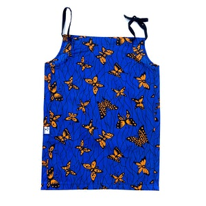 TreeKid FLORA DRESS - Blue & Orange Butterflies