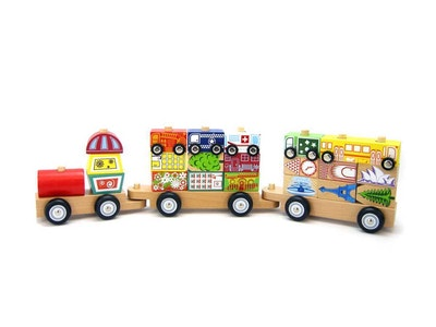 Kaper Kidz CITY BLOCK TRAIN WITH CARS