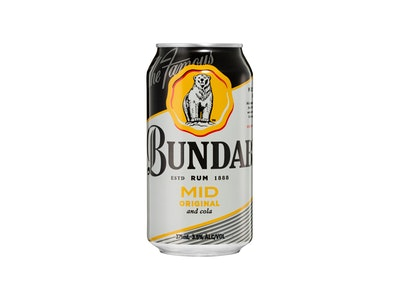 Bundaberg Mid Strength Original Rum & Cola Can 375mL