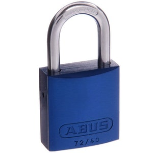 ABUS High Quality Colored Aluminium Padlock 72/40 Keyed to Differ