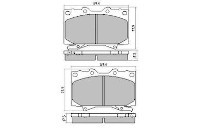 RDA EXTREME H/DUTY FRONT & REAR PAD SET for TOYOTA LANDCRUISER LEXUS - RDX1365