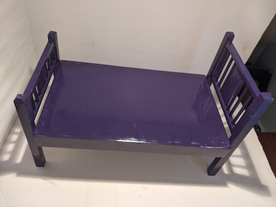 Designed by Florence Purple Doll Bed