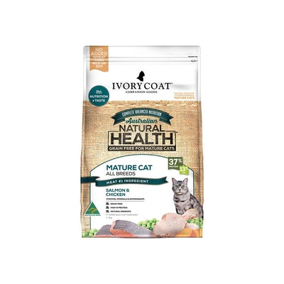 IVORY COAT Grain Free Cat Food Mature Ocean fish & Chicken 3KG