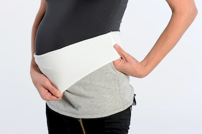 Inspired Mother Reversable Tummy Band Grey/White Extra-Small