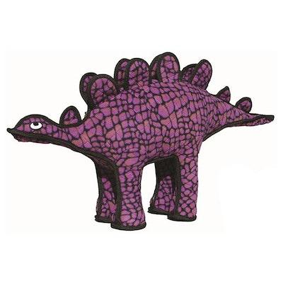 Tuffy Toys Tuffy Dinosaurs Stegosaurus Plush Dog Squeaker Toy Purple