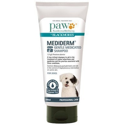 Paw Mediderm Dogs Gentle Medicated Grooming Shampoo - 2 Sizes