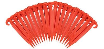 Pack of 20x Plastic Supa Tent Pegs 370mm Orange Standard grade