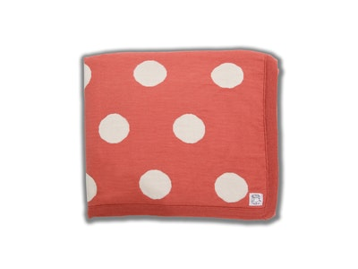 100% PURE Australian Merino Leroy Mac Designs Salmon Spot Blanket/Throw