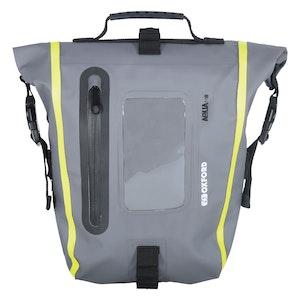 Oxford Aqua M8 Magnetic Tank Bag - Black/Grey/Fluro