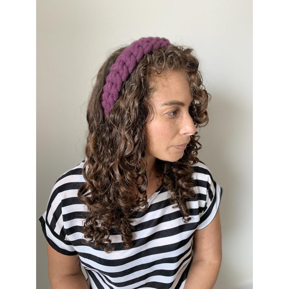 Form Norfolk Chunky Loop Knot Headband In Plum Purple