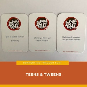 Around the Table FAMILIES WITH TEEN's & TWEEN's DINNER CONVERSATION CARDS