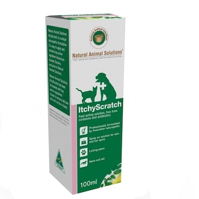 Natural Animal Solutions Nas Itchy Scratch Animal Spray Solution 100ml
