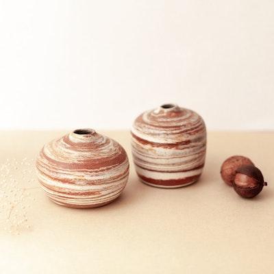 Sand and Fire Designs Small ceramic vase   Cute mini bud vases