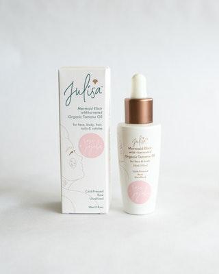 Julisa Mermaid Elixir Hydrating Blend Glass Skin Oil | Rose Jojoba Tamanu 30ml