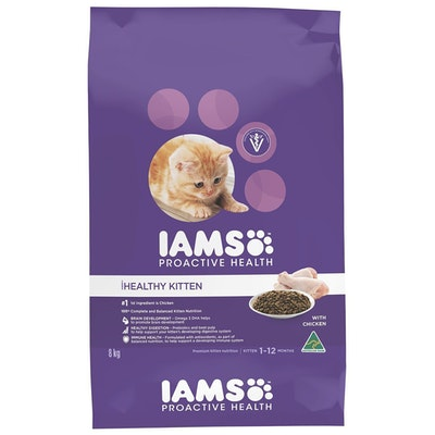 Iams Kitten 1+ Months Proactive Health with Chicken - 2 Sizes