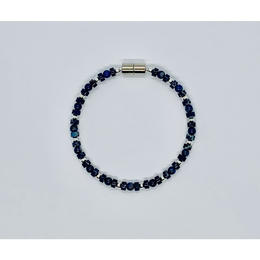 Fayre Maiden Lapis Lazuli And Sterling Silver Bracelet
