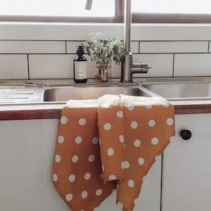 Mustard Spot Tea Towel