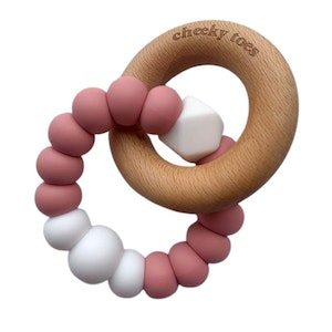 Cheeky Toes™ CHARMED Teething Toy I Vintage Rose