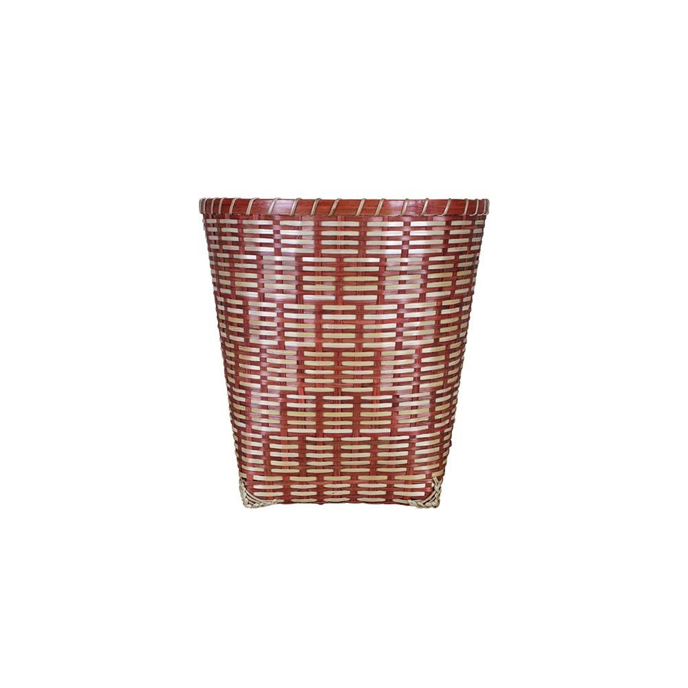 Birdie Fortescue Woven Wastepaper Basket - Red