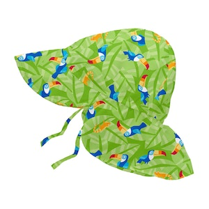 i play. Tropical Flap Sun Protection Hat-Lime Toucan