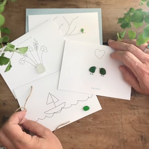 Seaglass Greeting Cards