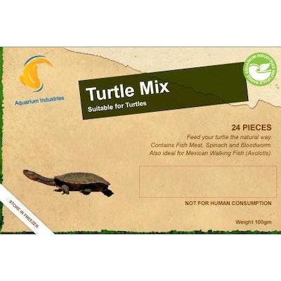 Aquarium Industries AI Nat Turtle Mix - Frozen 100gm Blist