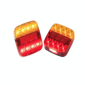 LED Stop Tail Indicator Trailer Lights with Licence Plate Light 12v Pair