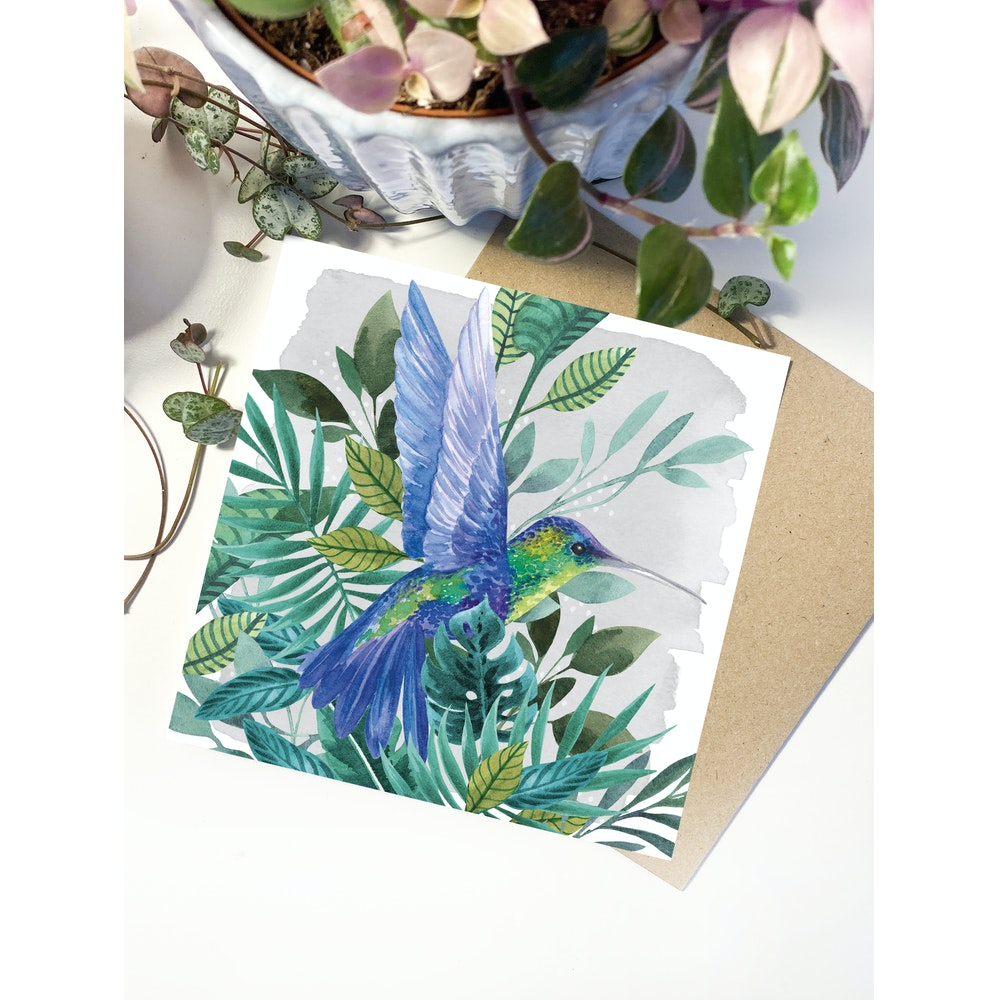 Laura Elizabeth Illustrations Hummingbird Greetings Card