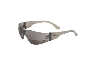 JB's Saver Spec wrap around medium impact safety eyewear - Smoke Anti Fog