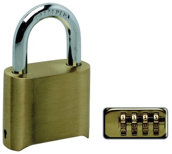 RiteFit RPC50 Resettable Brass Combination Padlock-50mm
