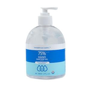 WH Safe Blue Safety Alcohol-Based Sanitiser Gel (500mL)