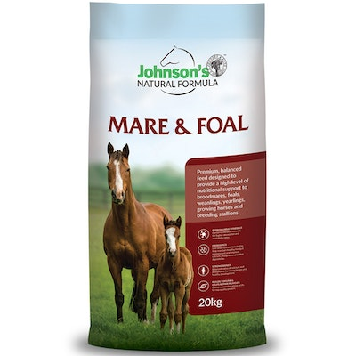 Johnson''s Johnsons Mare & Foal Natural Formula Pelleted Feed 20kg