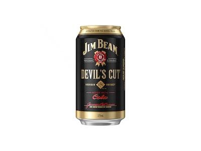 Jim Beam Devils Cut & Cola Can 375mL
