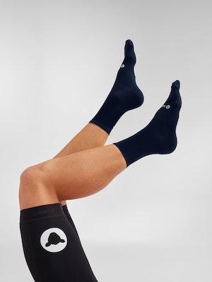 Black Sheep Cycling Perfect Crew Socks  - Navy Signature