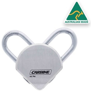 Carbine Dual Shackle Dual Key High Security Padlock with both cylinders keyed differently (KD)