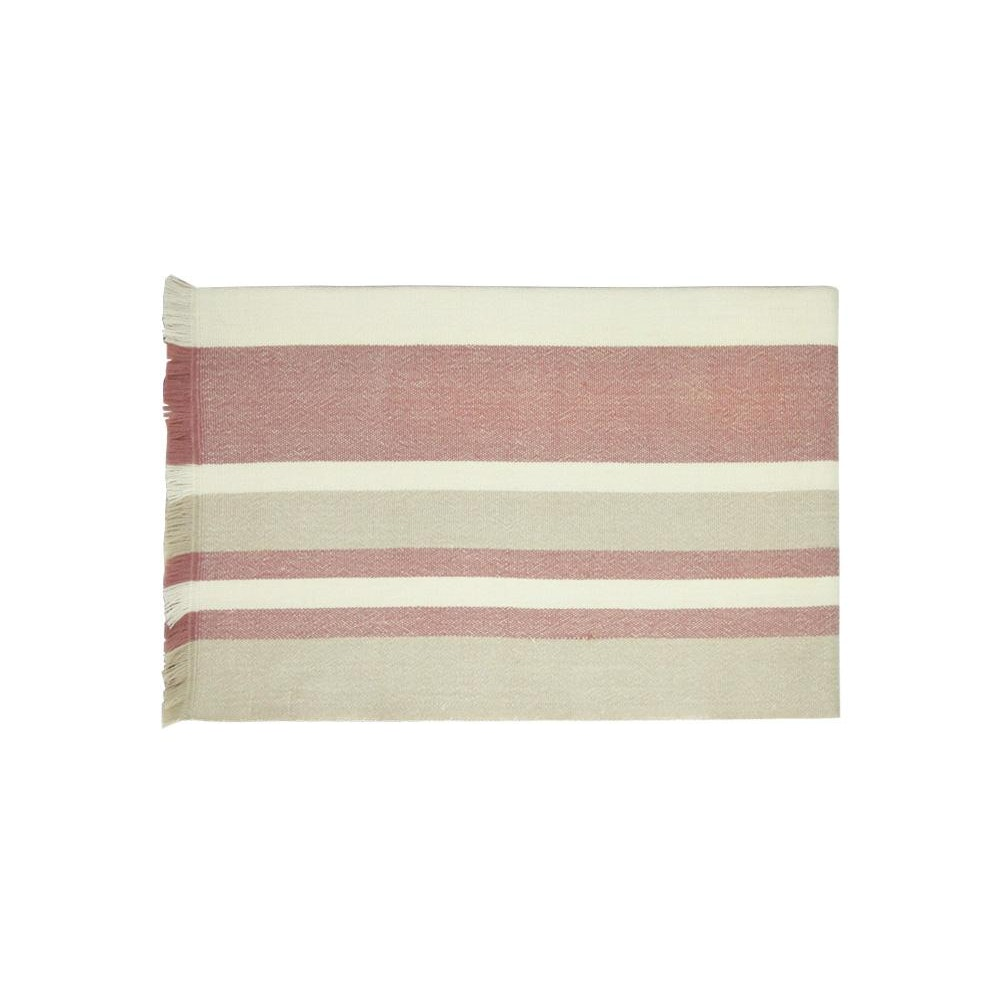 Birdie Fortescue Carinthia Wool Throw - Pink/taupe