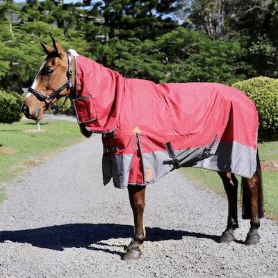 Capriole Equestrian 600D Rust & Grey Waterproof Combo – Rainsheet.