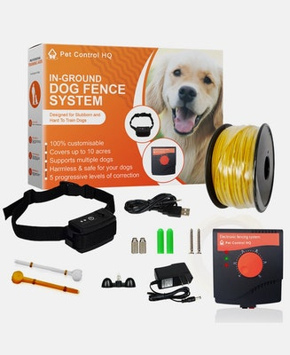 Pet Control HQ Waterproof Rechargeable Electric Dog Fence System 1 Collar