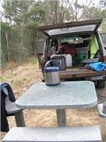 ContACT and Dream Pot serve lunch King Parrot Creek Rest Area near  Yea
