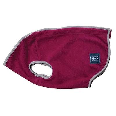 Zeez Cozy Fleece Indoor & Outdoor Dog Vest Shiraz Red - 3 Sizes