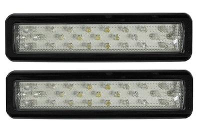 White LED Reverse Tail Light x 2 Multivolt