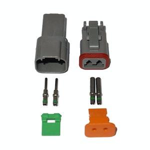Deutsch DT 2-Way 2 Pin Electrical Connector Waterproof Plug Kit