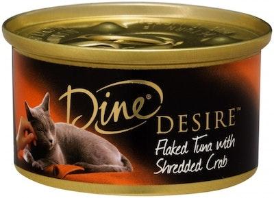 Dine Desire Wet Cat Food Flaked Tuna & Shredded Crab 85g x 24