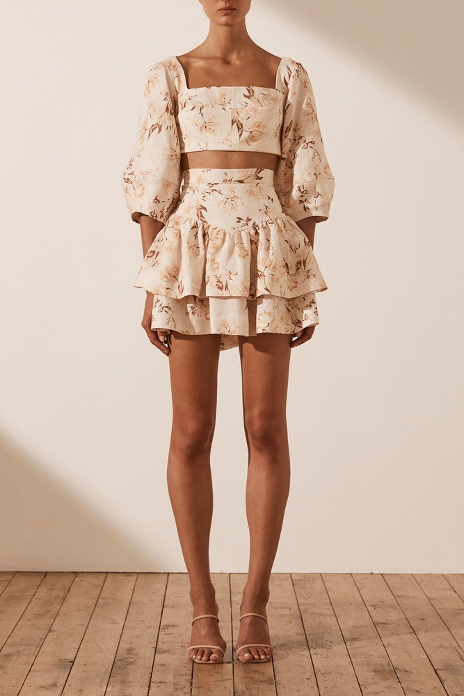 MINI FLORAL PLEATED SKIRT | BSB Fashion | Clothing for