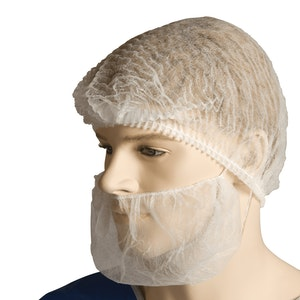 Polypropylene Beard Cover | Double Loop | 100 Covers Per Pack