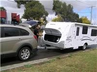 Jayco Discovery and GoSee Captiva at Hayman Reese for fit-out