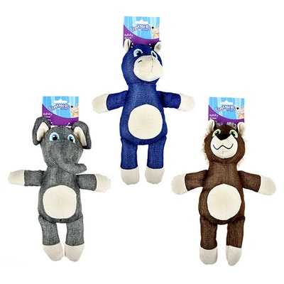 Chompers Dog Toy Animals 3 Asstd 35cm