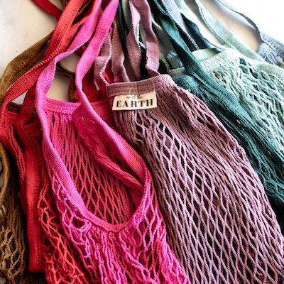Us and The Earth 100% Organic Cotton Mesh Shopping Bag