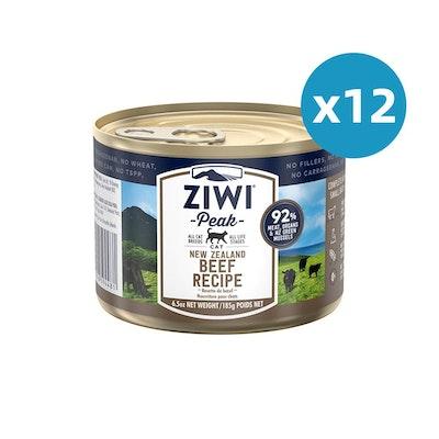 ZiwiPeak ZIWI Peak Cat Beef Recipe Can 185G X 12